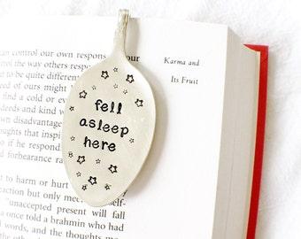 Fell Asleep Here, Spoon Bookmark. Vintage Silverware Spoon Book Marks by Milk & Honey.