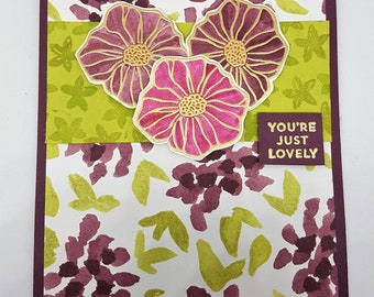 You're Just Lovely Greetings Card