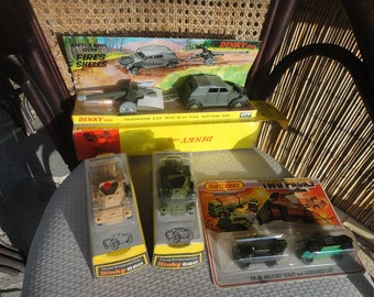 Dinky diecast lot #680 Olive, Beige, #617 and TP13 all in original packaging #621 & 623 not in original packaging