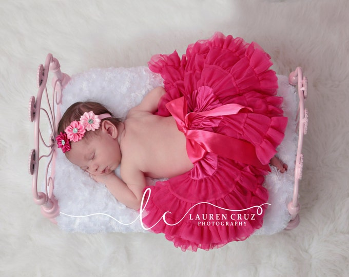 Shades of pink satin ribbon flower headband, perfect for all ages and newborn photoshoots, baby headband, small flowers, Lil Miss Sweet Pea