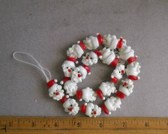 Glass Santa head beads