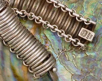Los Ballesteros Sterling Silver Large Link Bracelet