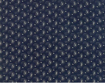 Ann's Arbor - Little Paisley Dark Blue by Minick & Simpson for Moda, 1/2 yard, 14847 14