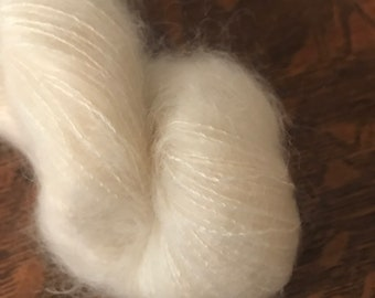 LACE Kid Mohair Silk Undyed Yarn, Undyed Lace Yarn Blank, Kid Mohair Lace Undyed Yarn, Ecru Yarn Base, Mohair Silk Yarn, Mohair Lace Yarn,
