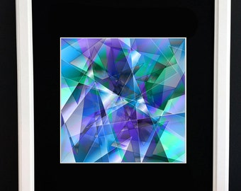 Digital Crystals - Limited Edition Digital Print