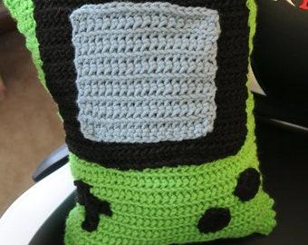 Lime Green Gameboy Pillow