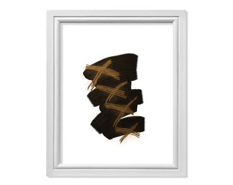 Chocolate Print, Abstract Print, Minimal Wall Decor, Abstract Art, Brown Art, Minimal Print, Zen Print, Zen Art, Contemporary Art
