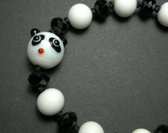Chinese Snake Knot Panda Bracelet - Adjustable