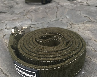Natural Hemp Dog Lead. Organic eco friendly Green dog leash