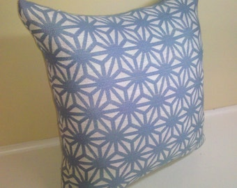 "Starburst pillow cover  -sky blue 16"" X 16"""