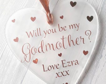 Will you be my godmother, godmother gift, god parent gift, thank you gift, hanging decoration, god father, god mother, godfather, godprarent