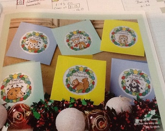 L- WOODLAND ANIMAL - Christmas Cards - Cross Stitch Pattern Only