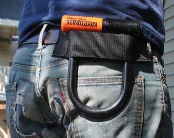 U Lock Holder/Holster Belt Style Small