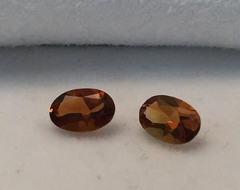 6 x 4mm, Rich Madeira Citrine Oval