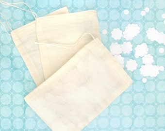 Cotton Muslin Bags Party Accessory for Wedding Ring Pouches, Confetti Bags and Crafting