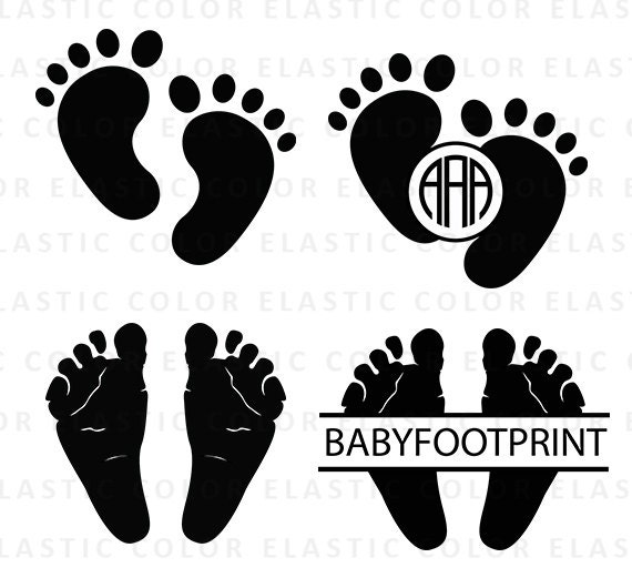 baby footprint svg file baby feet clipart baby feet monogram rh etsystudio com baby feet clipart on transparent baby feet clipart png