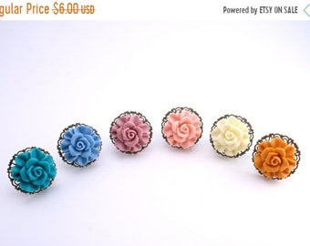 20%OFF SALE SALE-Vintage Rose Ring, Statement Ring- Was 10 Now 6