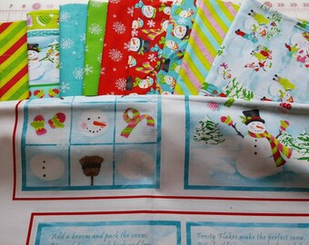 Clearance - 11+ Yard Bundle Frosty Flakes by Dana Brooks for Henry Glass