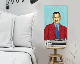 "Portrait ""Thomas |o2"" - Tribute Thomas Mann - FRAMED ART, Literature, iconArt, Personalized Gift, Name, Book Lover, Gift, For Women, For Men"