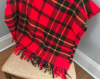 Plaid wool blanket, Faribo, Minnesota