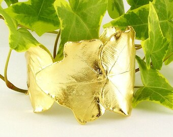real ivy leaves bracelet golden, ivy bracelet, real leaf bracelet, leaf bracelet, golden leaf, leaf jewelry, greek bracelet, greek jewelry