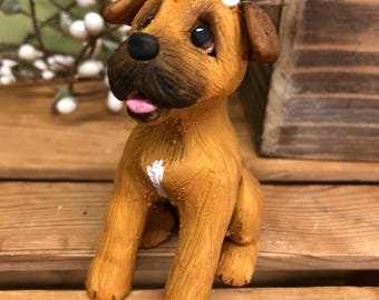 Custom Dog Ornament, Clay9 Mini, Custom Dog Sculpture, Dog Ornament, Dogs, Cake Topper, Akita, Clay Ornament, Custom Pet Sculpture