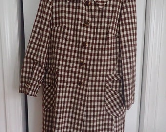Vintage Bromleigh New York Plaid Coat