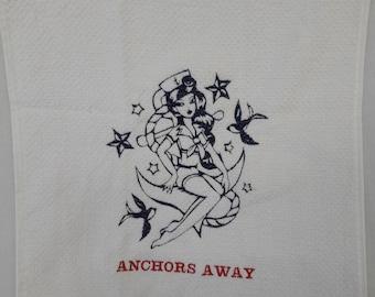 Anchors Away Tea Towel