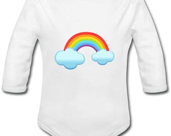 Rainbow - possibility of custom name onesie
