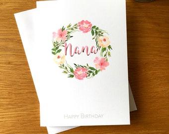 Nana birthday card etsy grandmother birthday card happy birthday grandma birthday card nana card for nana bookmarktalkfo Image collections