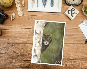 Highland Tiger Greeting Card
