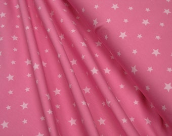 Jersey • Little Darling • stars white on pink • 0.54yd (0.5m) 002930