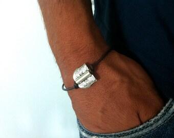 MINIMALIST MEN BRACELET, cotton cord bracelet for boy, for him jewelry, handmade simplistic bracelet, gift for men, gift idea, handmade