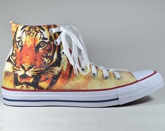 Tiger custom converse / custom shoes