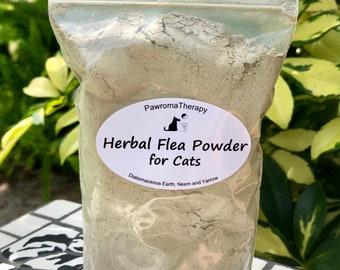 Herbal Flea Powder for Cats 4oz Refill, natural flea control, flea treatment