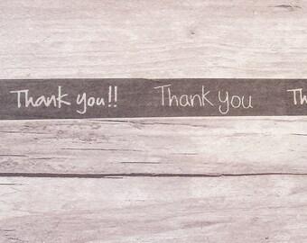 Thank You Washi Tape// Black & White Washi Tape// Packaging Washi Tape