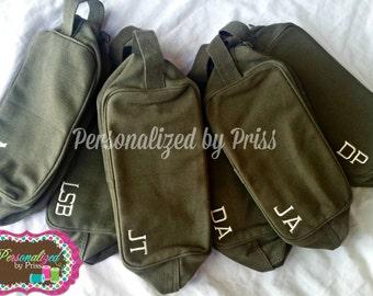 Men's Army Style Travel Kit Toiletry Bag Groomsman Gifts (Set of 6)