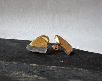 Asymmetrische Ohrringe, Meerglas Ohrstecker, Moderne Ohrringe, Schottischer Schmuck, Geschenk für Sie, Unterschiedliche Ohrringe