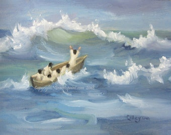 Even the Waves...Original Oil Painting by Maresa Lilley, SND