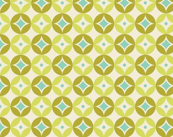 Sweet Nothings Fabric by Zoe Pearn for Riley Blake Designs, C5003 Green Diamonds