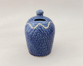 Ceramic Bank, Handmade Pottery Tzedakah, Charity Box, Judaica Gift