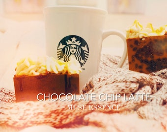 Chocolate chip latte soap