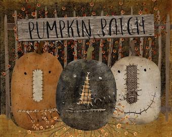 Pumpkin Patch, Jack-O-Lanterns, 8x10 printable download