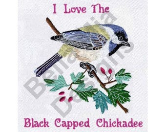 Black Capped Chickadee - Machine Embroidery Design