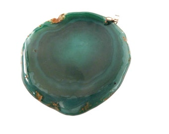 Stone Pendant, Statement Pendant, Gemstone Pendant, Big Pendant, Agate Pendant, Green Agate Slab, Green Gemstone Slab, Slab Pendant, Agate