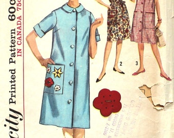 One Piece Dress or Duster Bust 34 Simplicity 5251