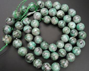 "Natural Emerald Beads 16mm Round Beads 16"" Strand"