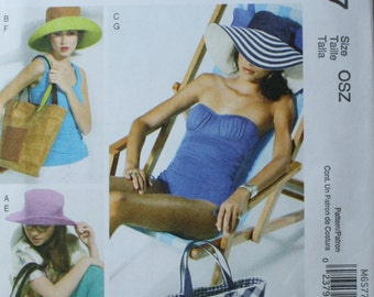 McCall's M6577 Misses Retired Hat and Tote Sewing Pattern New/Uncut