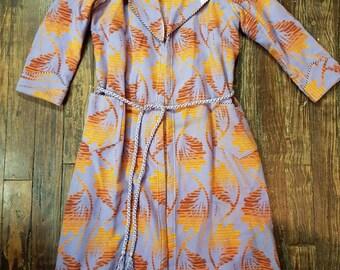 AMAZING Vintage Beacon Blanket Purple/Orange 1930s Women's Robe
