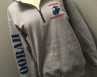 Marine Girlfriend 1/4 zip sweatshirt quarter zip